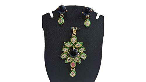 Blue Stone Ethnic Traditional Elegant Kundan Pendant Neck... https://www.amazon.com/dp/B01N19RU49/ref=cm_sw_r_pi_dp_x_U0RMybWAMC8SY