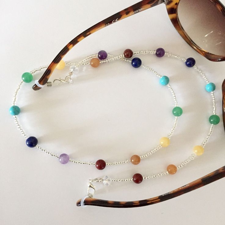 Multicolour gemstone beaded spectacle chain,sunglasses/spectacle/eyeglass…