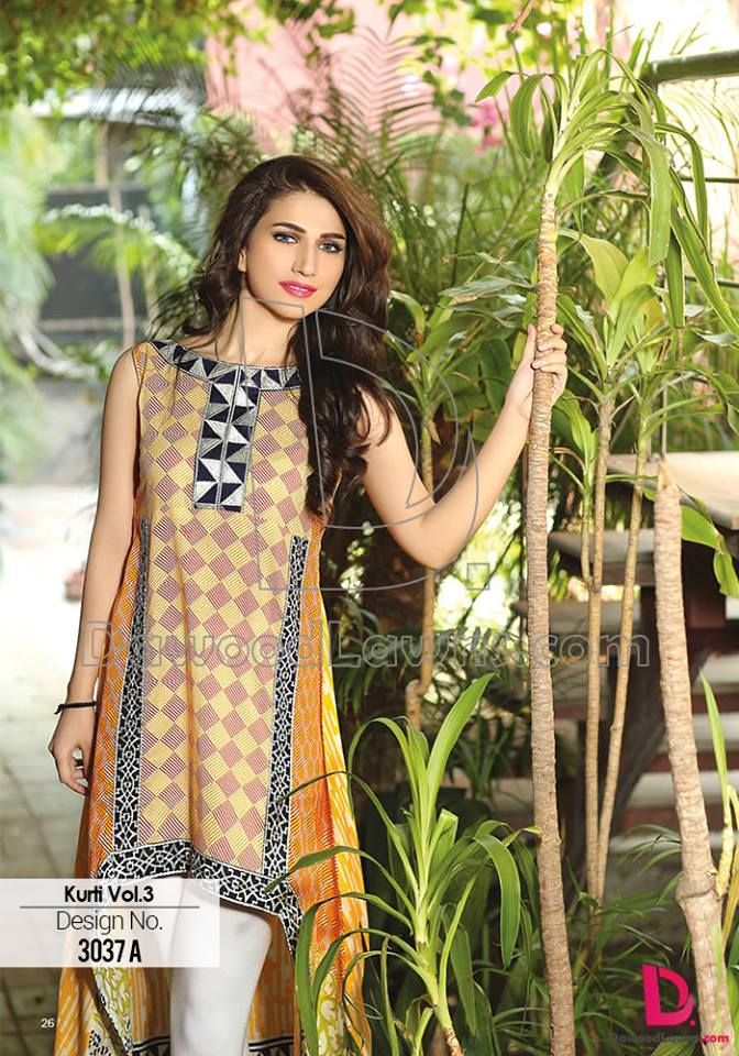 Dawood Summer Collection Latest Kurti Design http://clothingpk.blogspot.com/2015/05/dawood-summer-collection-latest-kurti.html