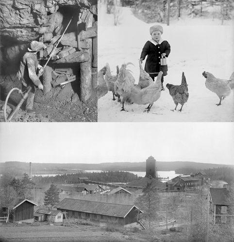 Riddarhyttan. 2.5 - 6.9 2015. Bilder om arbete, fritid, butiker,  kommunikationer och boende  i efterkrigstidens och folkhemmets gruvsamhälle Riddarhyttan under 1940-60-tal. Utställningen är producerad av  Riddarhyttans hembygds- och intresseförening och Teatermaskinen i samarbete med Västmanlands läns museum.