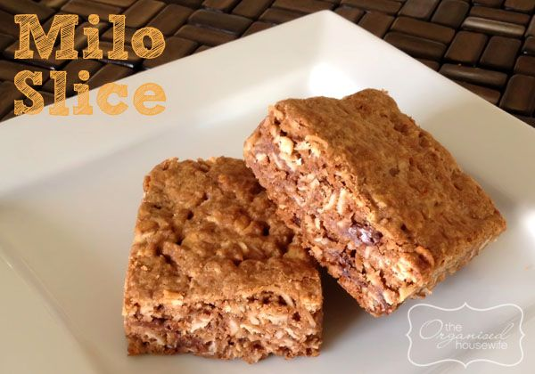 Super easy and so delicious lunchbox treat, Milo Slice