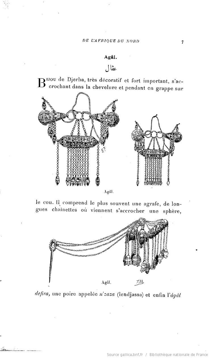 Dictionnaire des bijoux de l'Afrique du Nord : Maroc, Algérie, Tunisie, Tripolitaine / par Paul Eudel