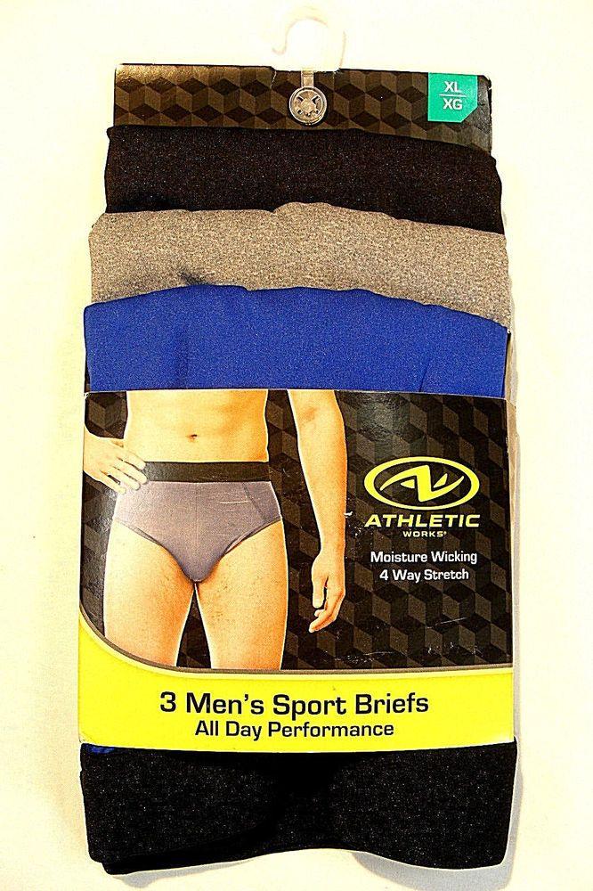 e241b5cb8efccb ATHLETIC WORKS Mens Size XL (40-42) 3pk Sports Brief Multicolor NWT  #fashion #clothing #shoes #accessories #mensclothing #underwear (ebay link)