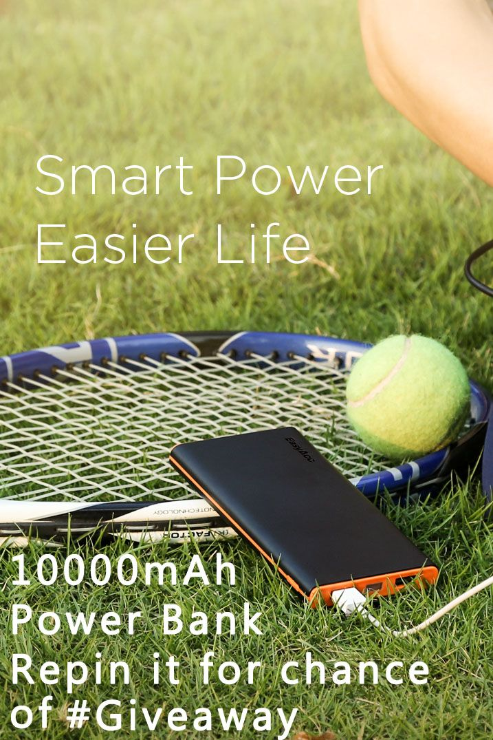 #Powerbank Repin it to win this giveaway chance! Automatically identify the type of device and output the suitable electric current for your device. #Giveaway