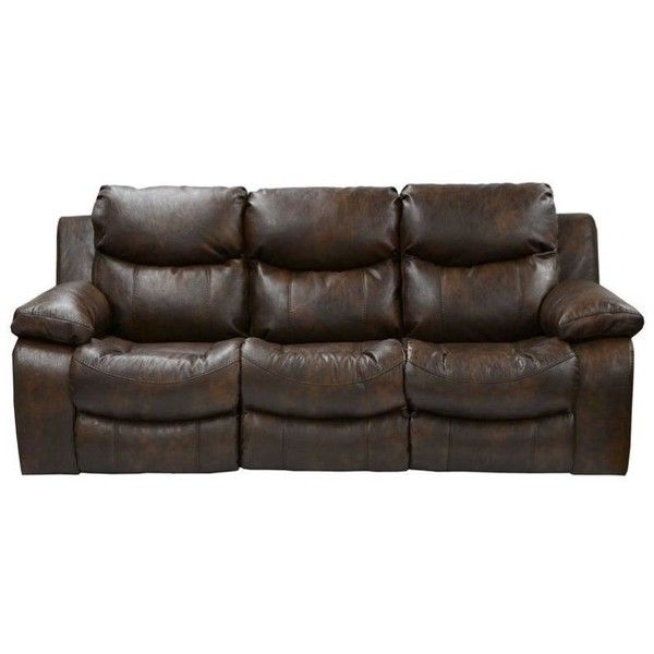 Sectional Sofa Catnapper Catalina Leather Power Reclining Sofa liked on Polyvore featuring home