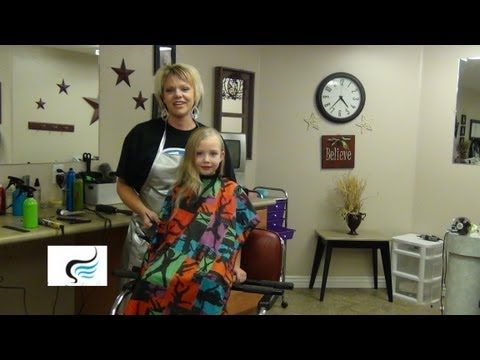 How To Cut Long Hair To Stacked A-Line for Little Girls - Girls Hairstyle