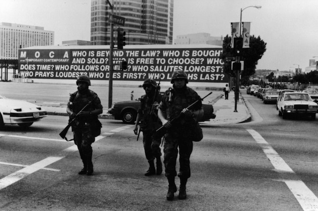1992 L.A. Riots by Gary Leonard/Los Angeles Public Library Photo Collection