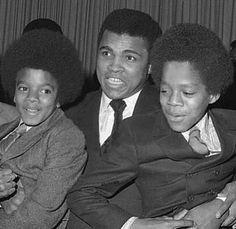 Michael Jackson, Muhammad Ali & Marlon Jackson