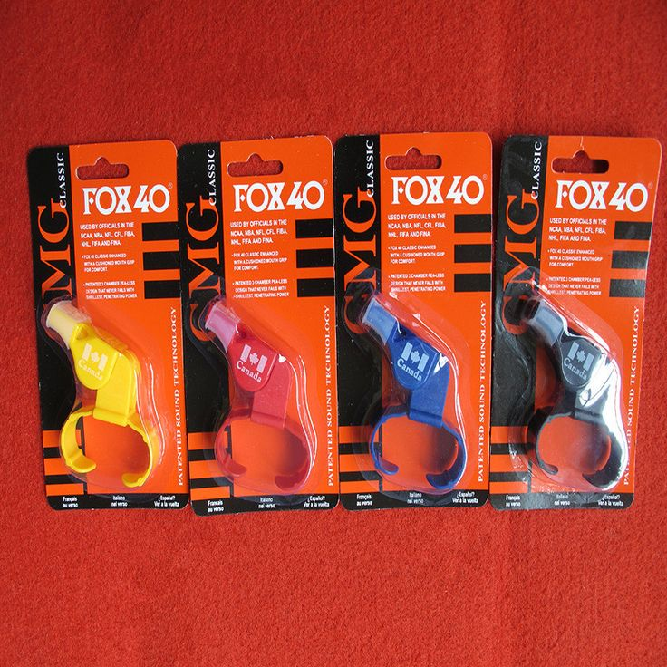 Fox40 Whistle With Finger Grip Referee Sports Whistle Basketball Volleyball Tennis Dolphin Referee Apito in Plastic Packing