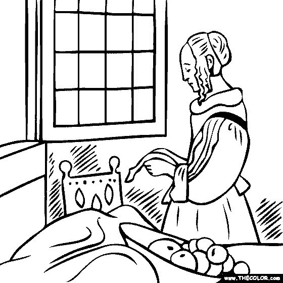 Girl Reading A Book Coloring Coloring Coloring Pages