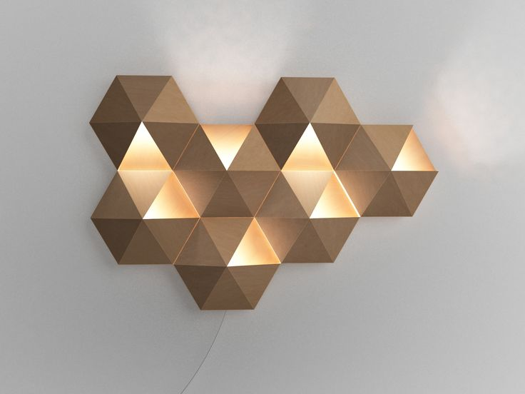 Jervis Chua / AmbiHive ambient wall lamp. #industrial #product #design