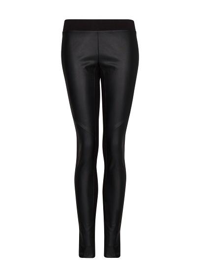 MANGO - Faux leather panel leggings