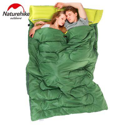Naturehike. Портативный двухместный спальный мешок с подушками, 2.15 м * 1.45 м, конверт для отдыха, туризма, походов и т. д.