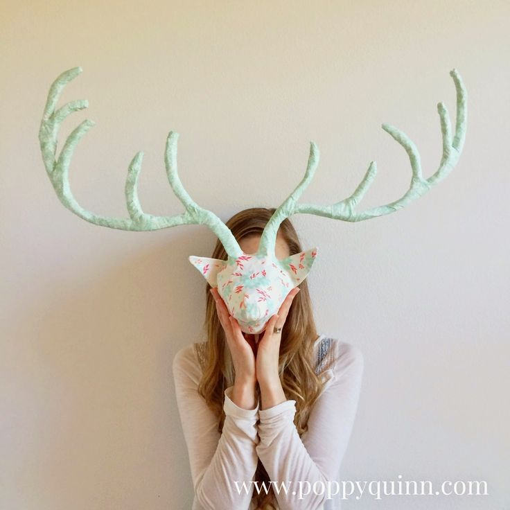 Poppyquinn how to make paper mache antlers winged blog for Fake deer antlers for crafts