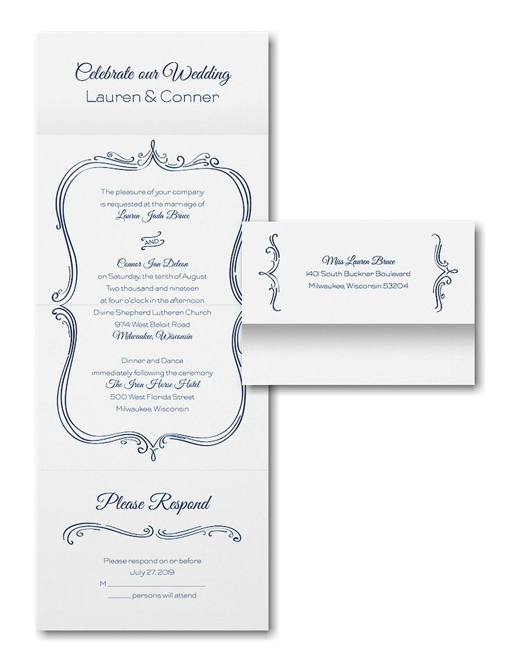 Whimsical Frame Seal U0027n Send Wedding Invitation