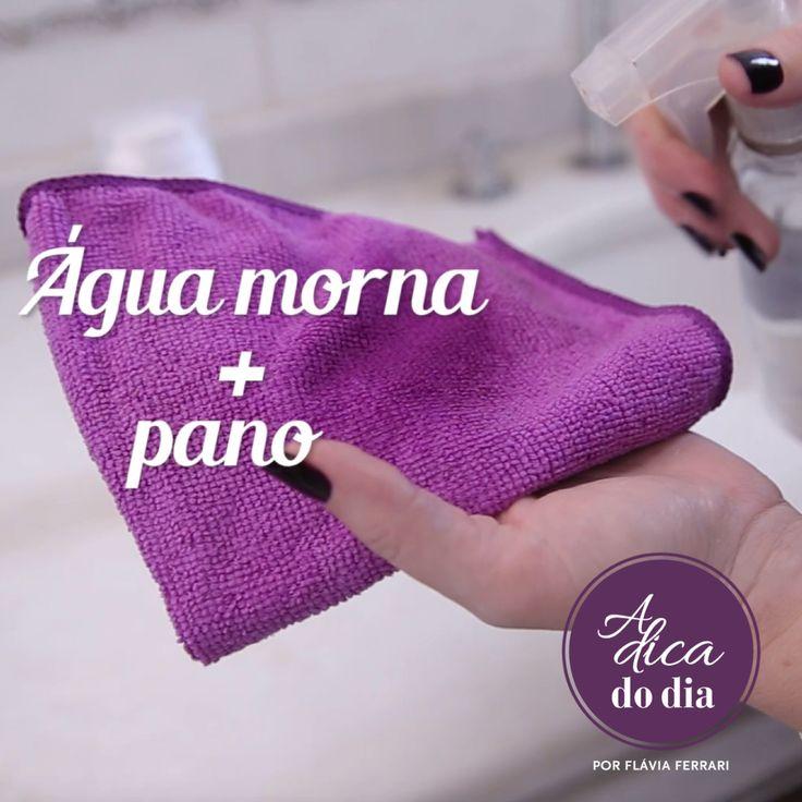 limpar espelho sem complicações nem manchas