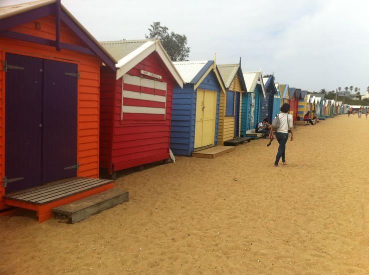 Brighton Bathing Boxes on Dendy St. Beach Brighton