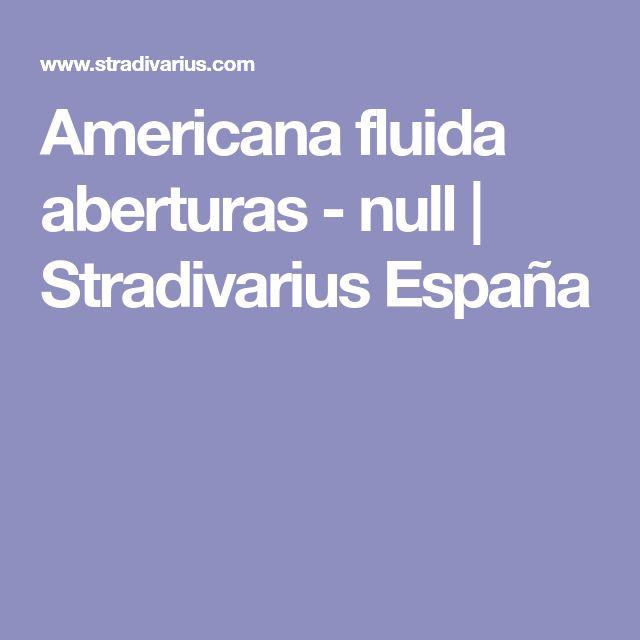 Americana fluida aberturas - null | Stradivarius España