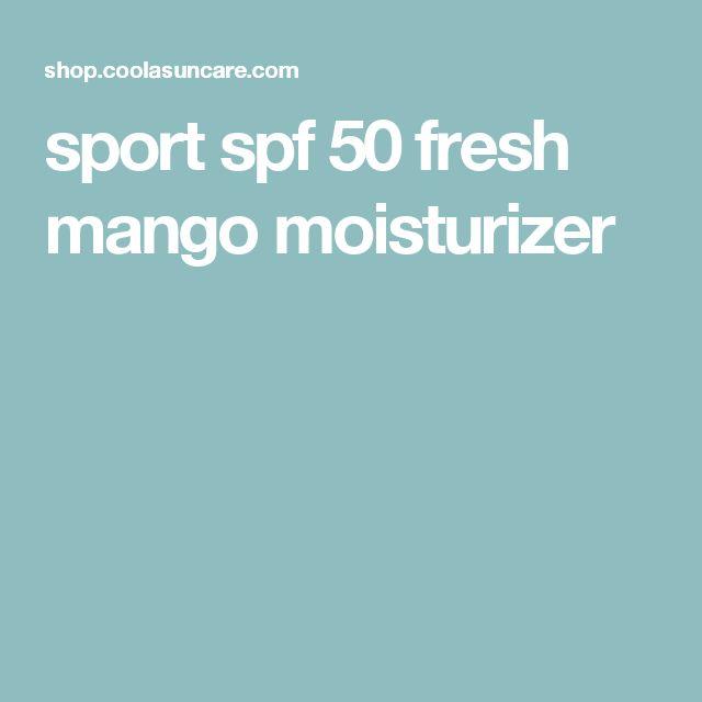 sport spf 50 fresh mango moisturizer