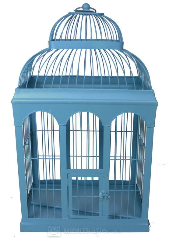 Blue Retro Birdcage (Large)