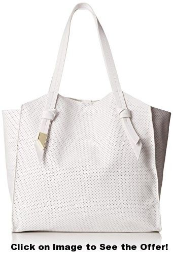 Foley + Corinna Tye Tote, White Perforated, One Size