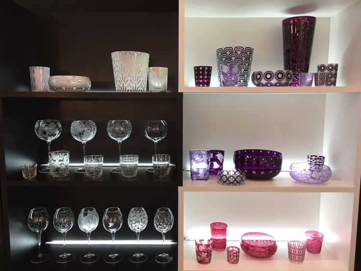 A fraction of CLARESCO Glass collection on display at Maison&Objet 2017.