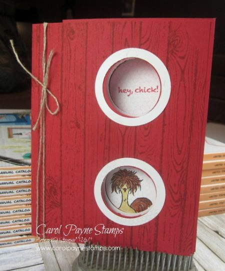 Stampin' Up!, Hey Chick, Hardwood Background, Sale-a-bration, DIY Crafts, handmade birthday cards,http://bit.ly/shopwithCarolPayneStamps