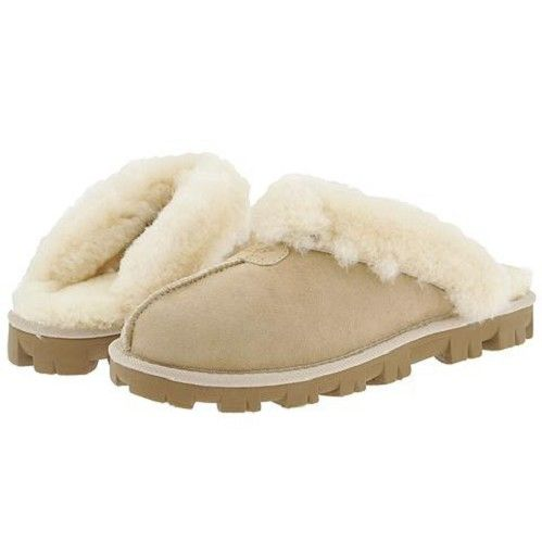 The Latest Ugg Coquette Slippers 5125 Sand At Breakdown Price