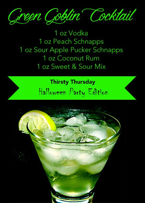 TotallyTrips - Travel Agency presents Thirsty Thursday Halloween Party Edition featuring GREEN GOBLIN COCKTAIL!