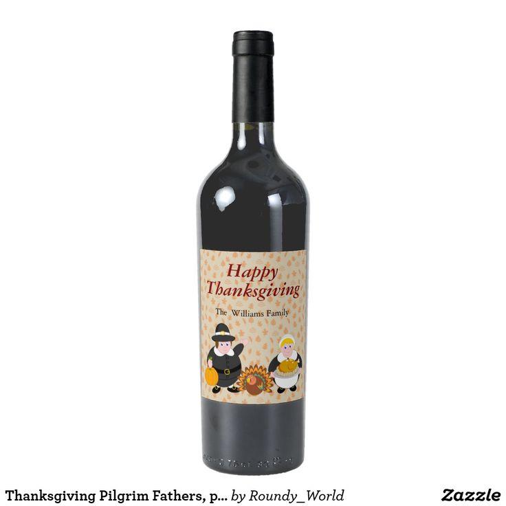 Thanksgiving Pilgrim Fathers, pumpkin & turkey,