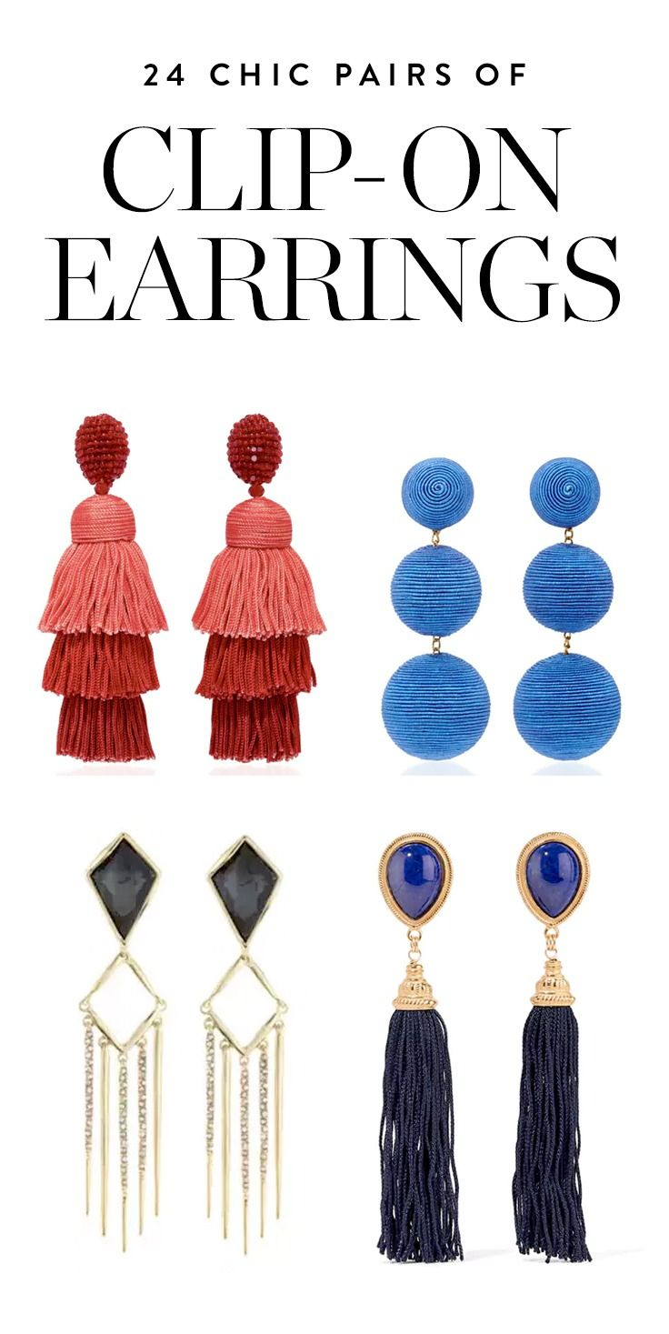 Here, 24 super-chic pairs of clip-on earrings to add to your jewelry box.