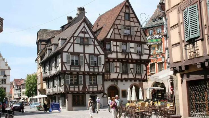 Beautiful timber framed houses in colmar france in 4k Colmar beauty and the beast