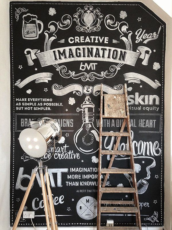 BMT London | Chalk Wall by Ricardo Martins, via Behance