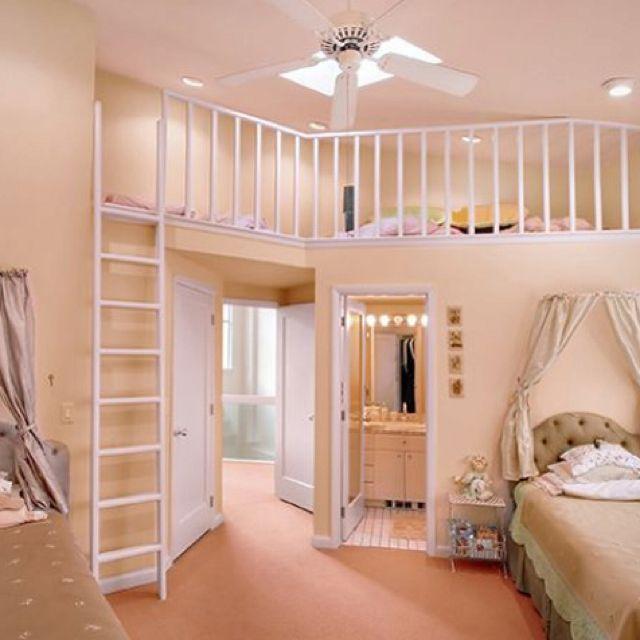 Little girls dream roomThe Loft, Little Girls Room, Girls Bedrooms, Kids Room, Room Ideas, Girl Bedrooms, Kid Rooms, Dreams Room, Girl Rooms