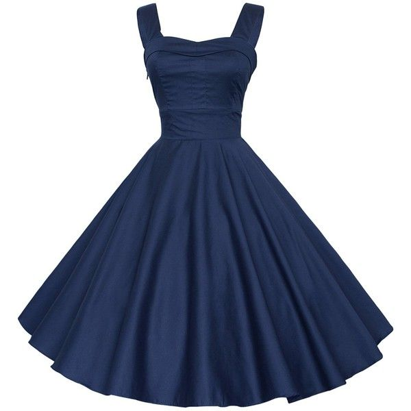 Maggie Tang 50 60s Vintage Cocktail Swing Rockabilly Gown Dress... ($40) ❤ liked on Polyvore featuring dresses, vintage rockabilly dresses, evening dresses, rockabilly bridesmaid dresses, holiday dresses and blue rockabilly dress