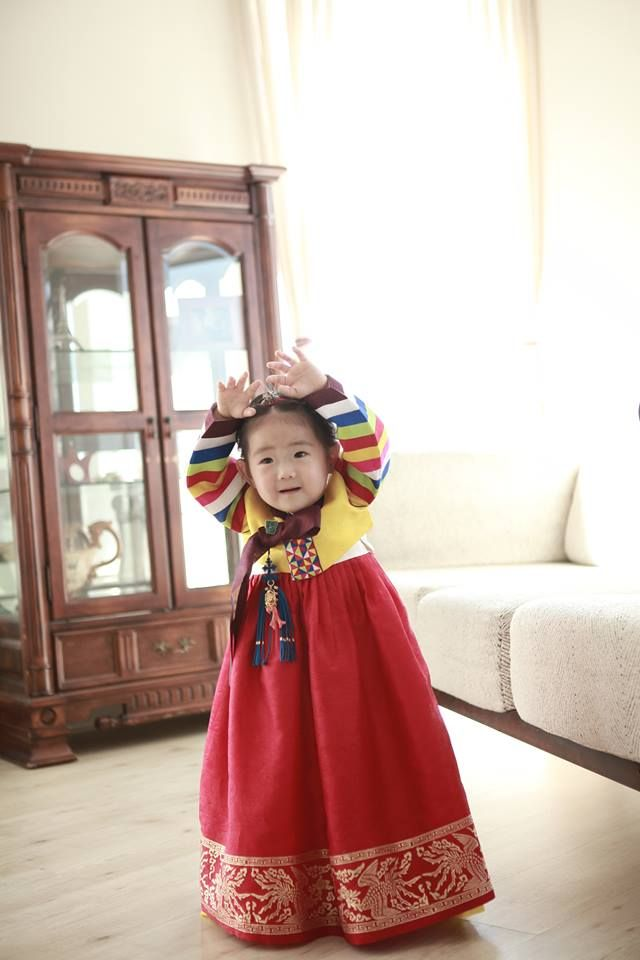 My work, My niece, Korean clothes