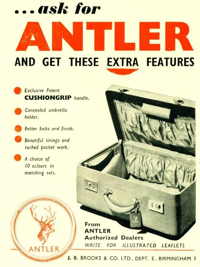Antler, publicidad de mediados de siglo pasado