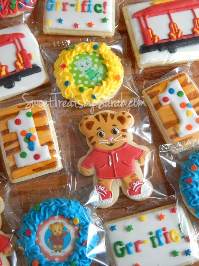 Daniel Tiger's Neighborhood Cookies Daniel Tiger Birthday Favors