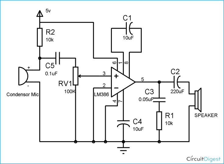 lm386 audio amplifier circuit diagram