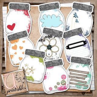 FREE Printable - Mason Jars: Masons, Printable Mason, Jars Labels, Rebeccab, Free Printable, Scrapbook, Jars Printables, Crafts, Mason Jars Tags