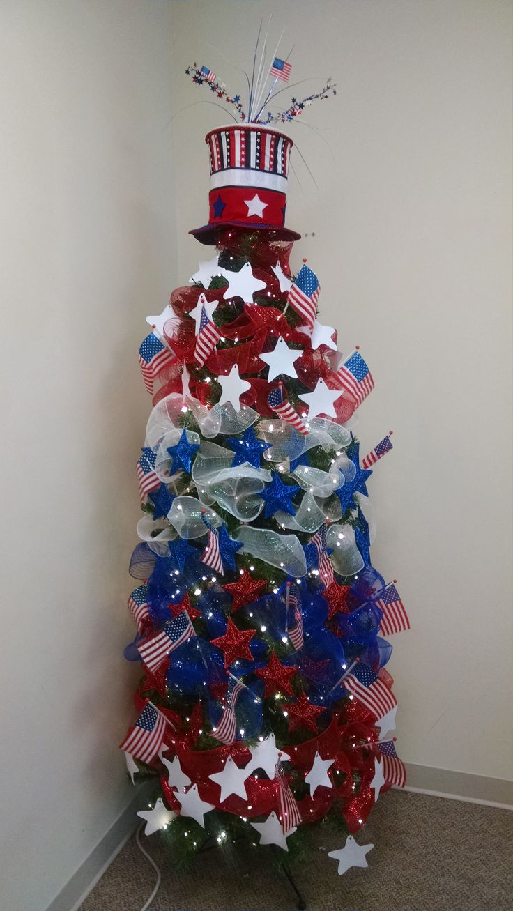 Americana christmas ornaments - Let The Fireworks Begin July Tree 2015