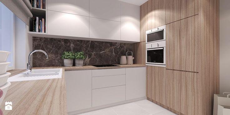 Mieszkanie w kameralnej dzielnicy na uboczu miasta. - Kuchnia, styl nowoczesny - zdjęcie od Agata Hann Architektura Wnętrz