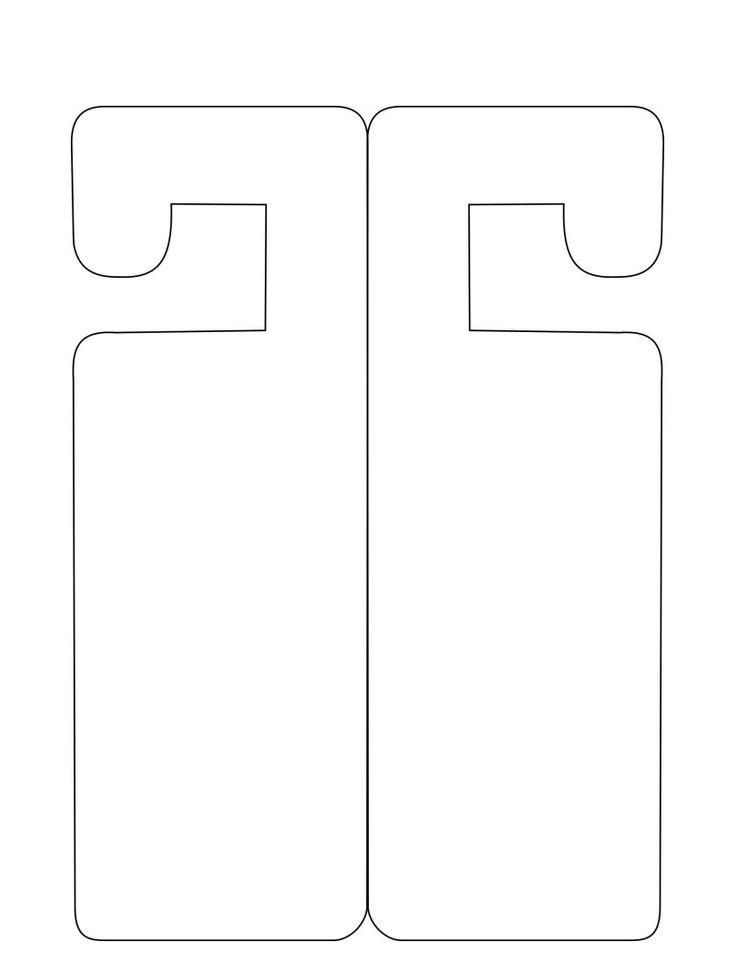4 25 x 11 door hanger template - free printable door knob hanger template