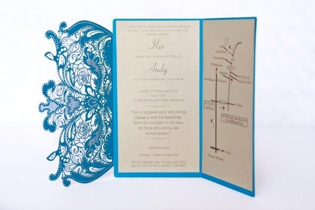 Intricate laser cut invite