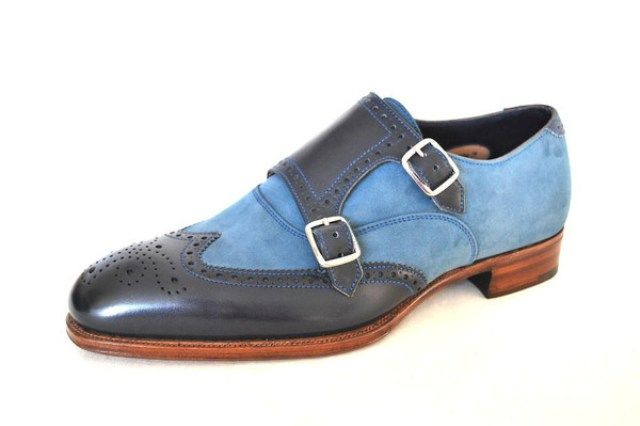 Shoes Of The Week – Blue Two Tone Brogues by Alfred Sargent – The Shoe Snob Blog
