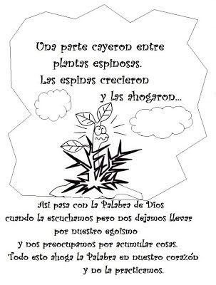 El Rincón de las Melli: Parábola del sembrador con dibujos