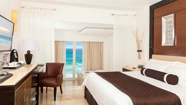 One of the beautiful suites found at the Le Blanc Resort Spa.  For more information about the Le Blanc Resort, or to book your romantic Cancun getaway, speak to one of our Vacation Specialists at 1-888-685-6888 or read our blog for more: http://ow.ly/FnF0A