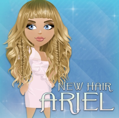 Want beachy, sea-sprayed waves? Try on our new Ariel hair! SHARE if you'll be donning this do! ;)