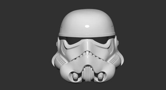 Stormtrooper Helmet Star war 3D print model STL file