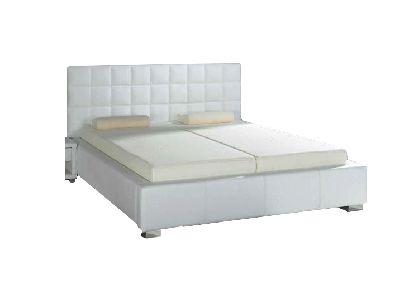 Białe tapicerowane łóżko (PL) / White upholstered bed (EN) by tempur.pl